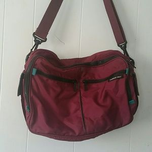 Maroon Messenger Bag Laptop Members Only School